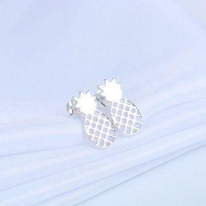 $2/12 Silver Pineapple Stud Earrings